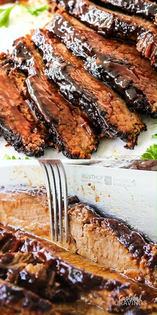 Slow Cooker Beef Brisket with Barbecue Sauce (Vide