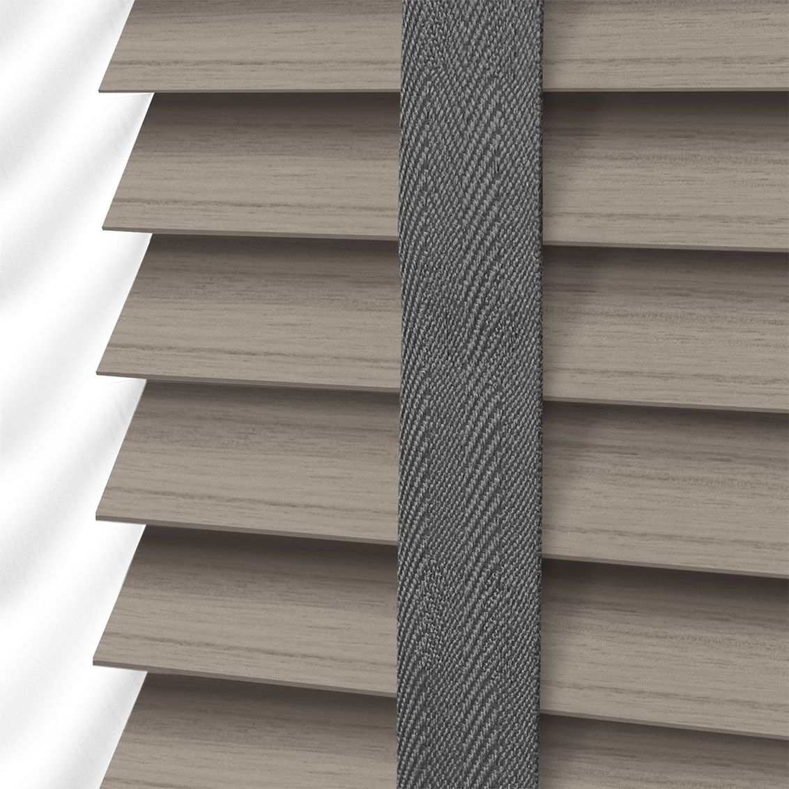 Window blinds faux wood color strip