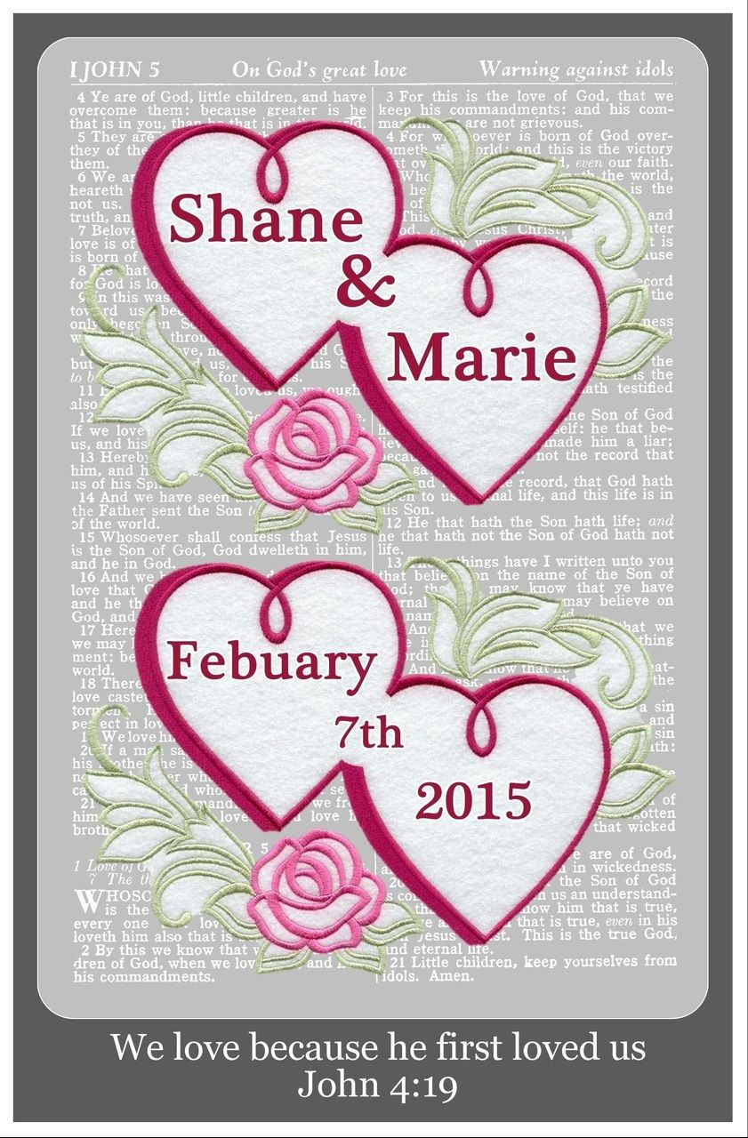 Wedding We Love Because, Personalized Wall Art Gift - Promise Gifts ...