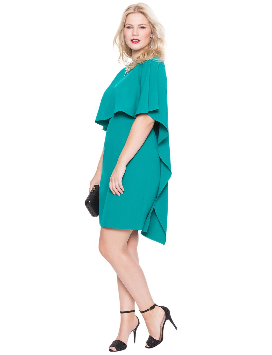 Studio Cascade Capelet Dress | Women\'s Plus Size Tops | ELOQUII ...