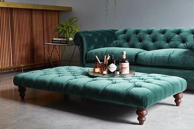 emerald green velvet chesterfield sofa from darlings of