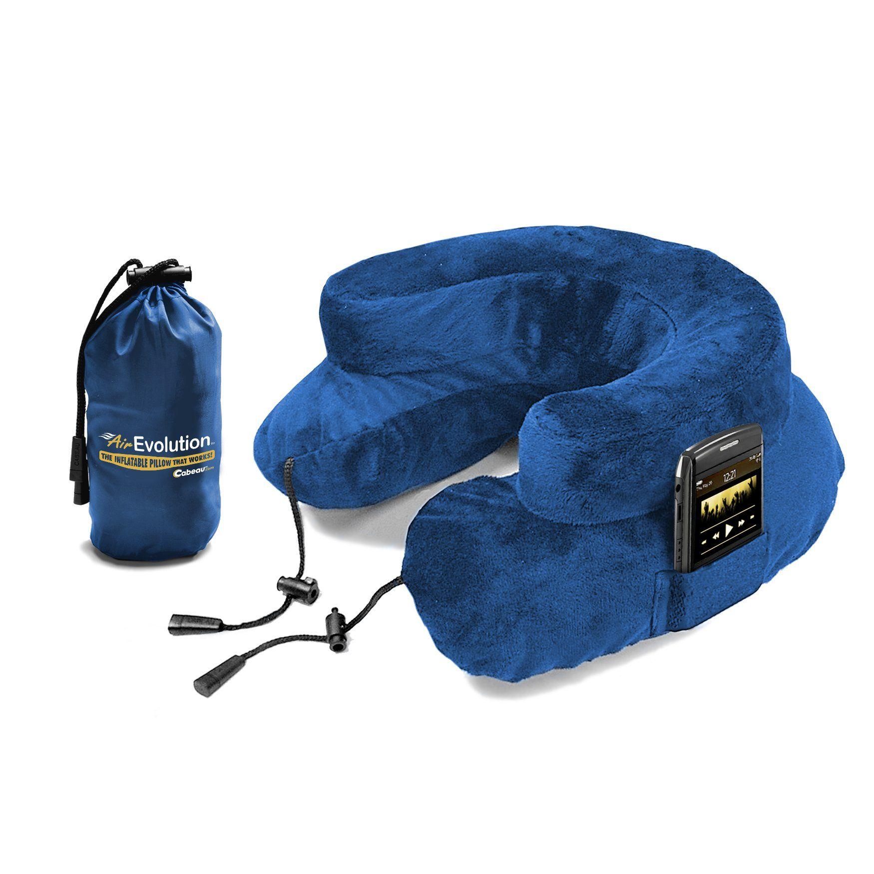 "CABEAU ""Air Evolution"" Inflatable Neck Pillow + Small Bag"