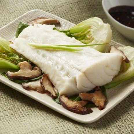 Ginger-Steamed Alaska Cod with Chile Soy Dipping Sauce
