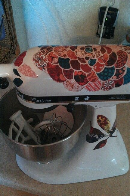 Decorated Kitchenaid Mixer Used Vinyl Wall Decals From Hobby Lobby - Vinyl decals at hobby lobby