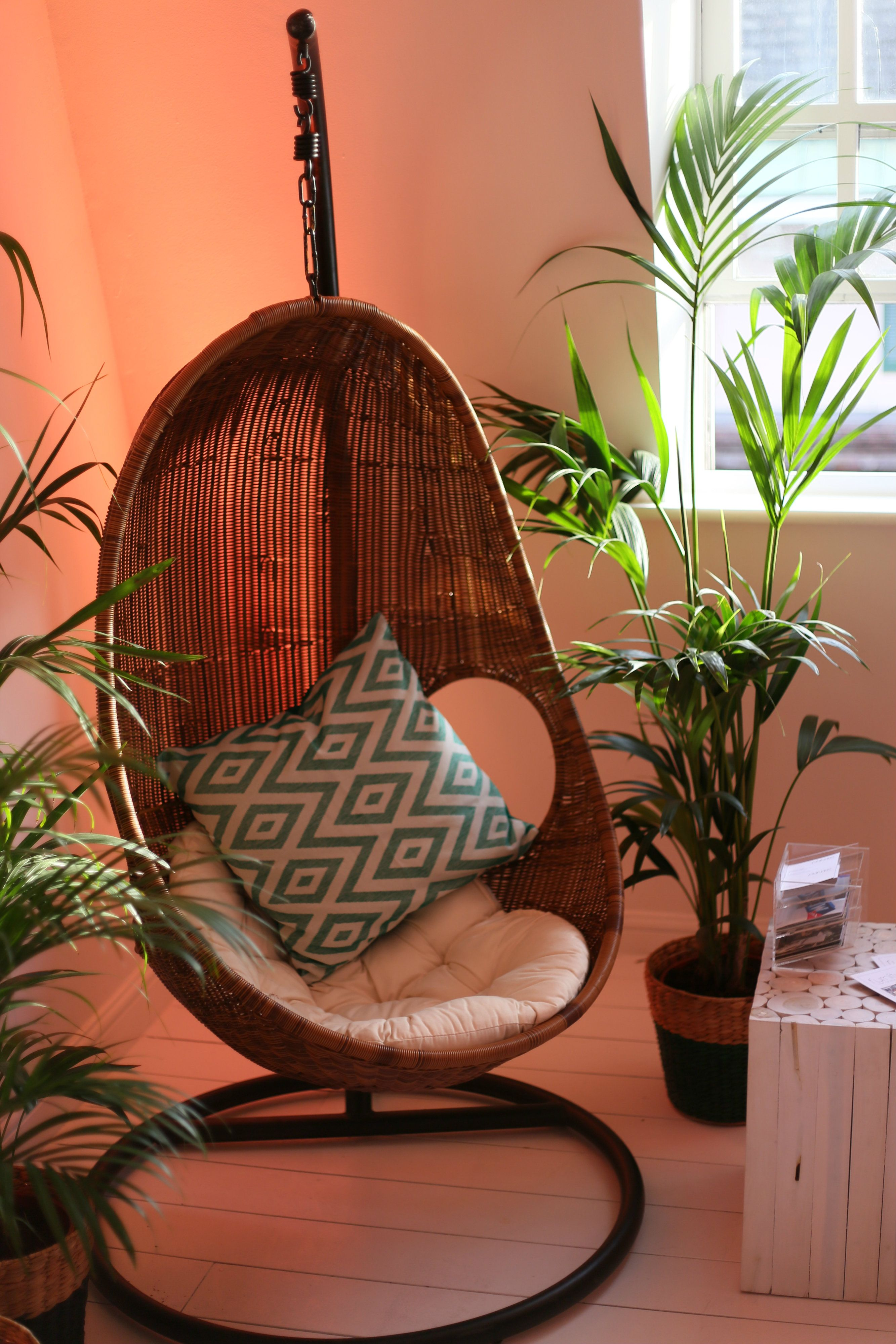 Our amazing hanging wicker chair brings a little bit of