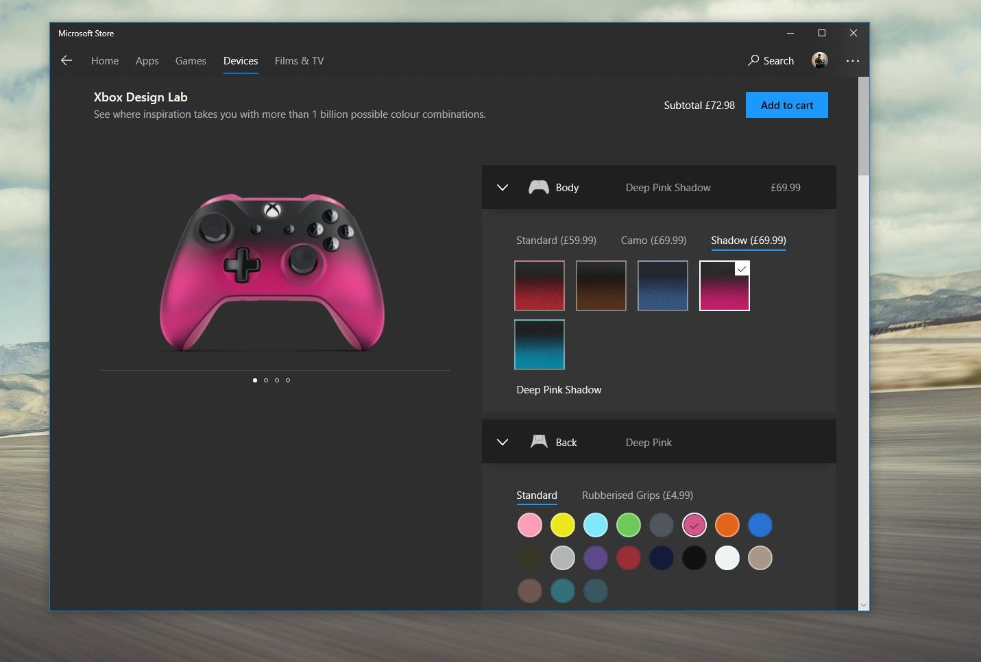 Xbox Design Lab comes to Microsoft Store app on Xbox One