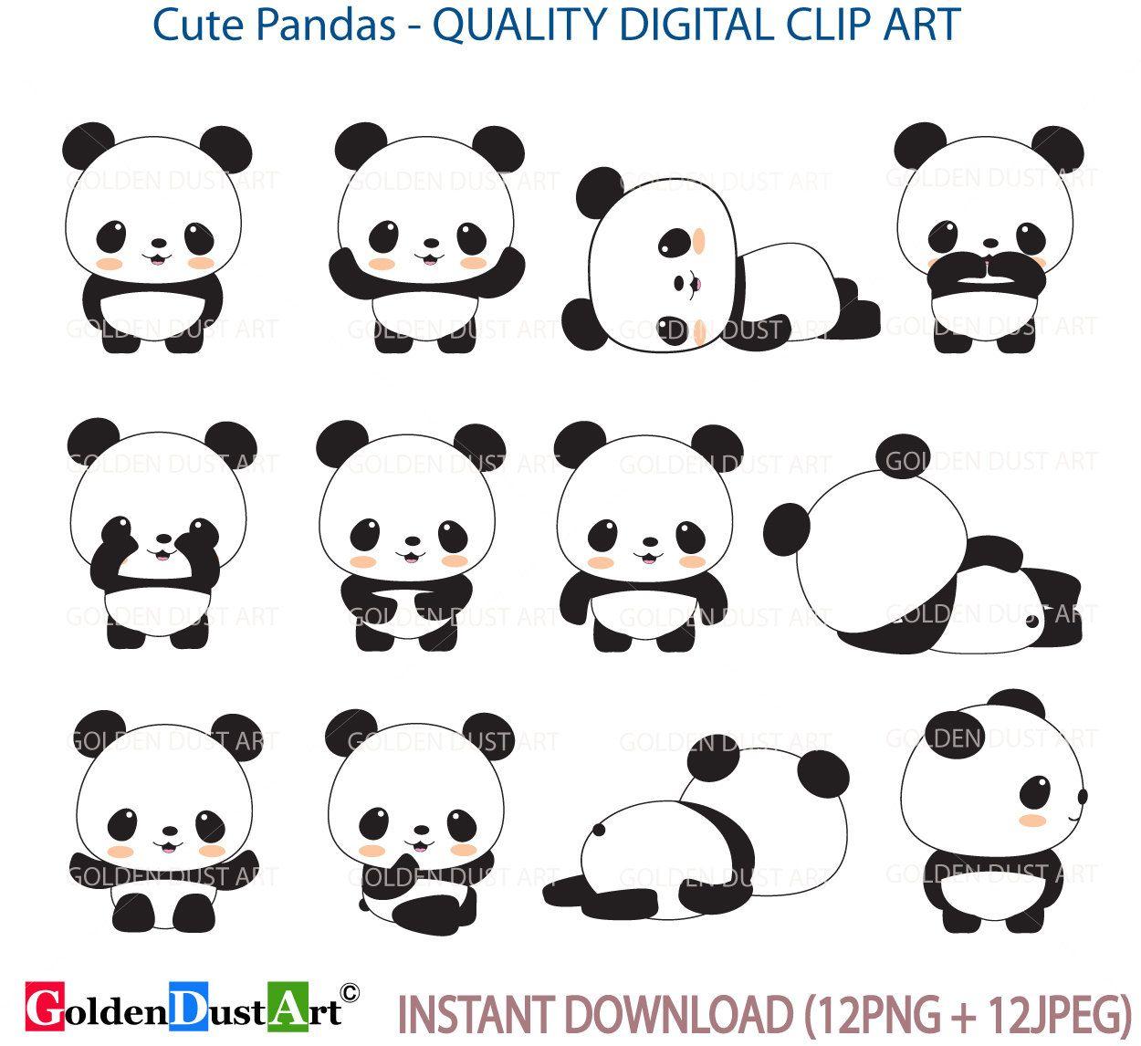Panda Clip Art Panda Clip Art Panda Clipart Cute Panda