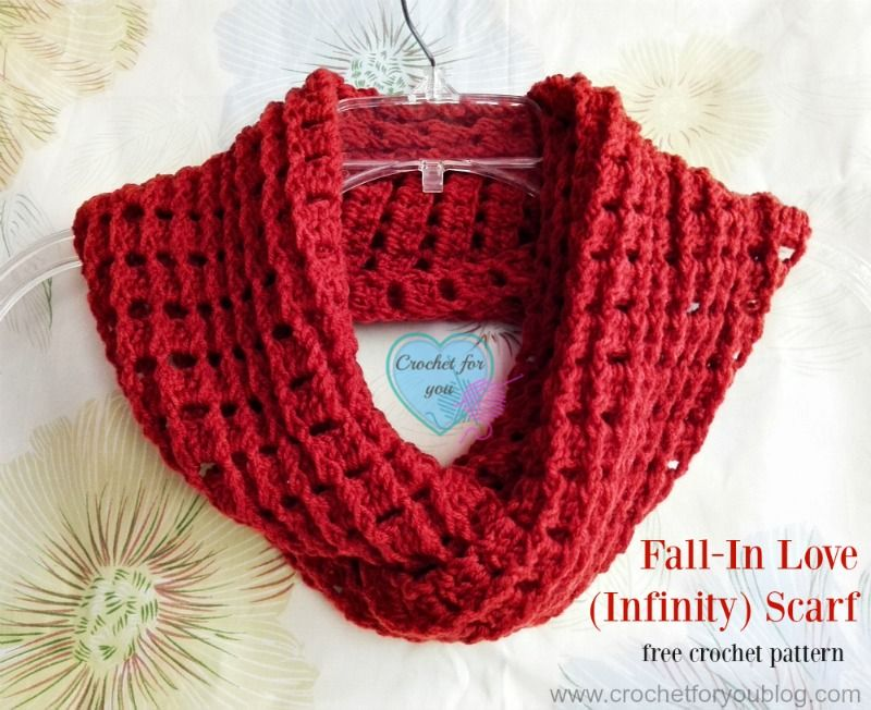 Fall-In Love (Infinity) Scarf - free crochet pattern | Chal, Trazos ...