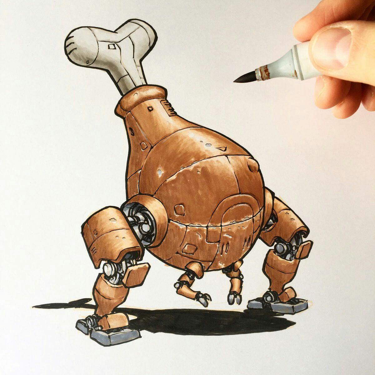 Jake Parker Drumstick Bot