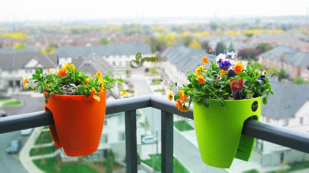 Greenbo Railing Planter Design Your Urban Balcony Garden