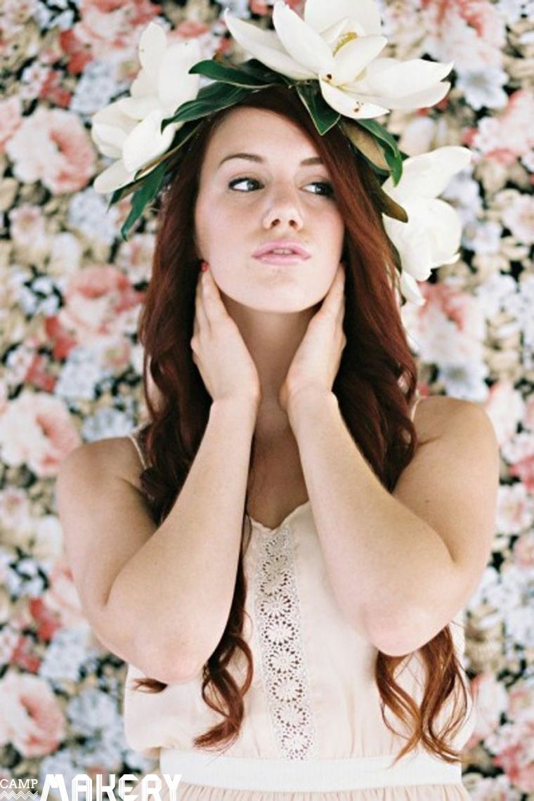 Diy How To Make A Fresh Magnolia Flower Crown Flower Crown Magnolia Flower Flowers