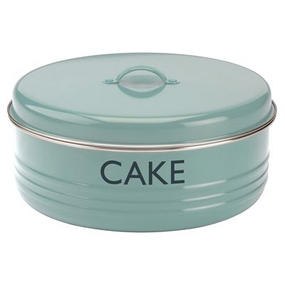 Typhoon Vintage Kitchen Blue Cake Tin Cake Storage Vintage Kitchen Stainless Steel Canister Set