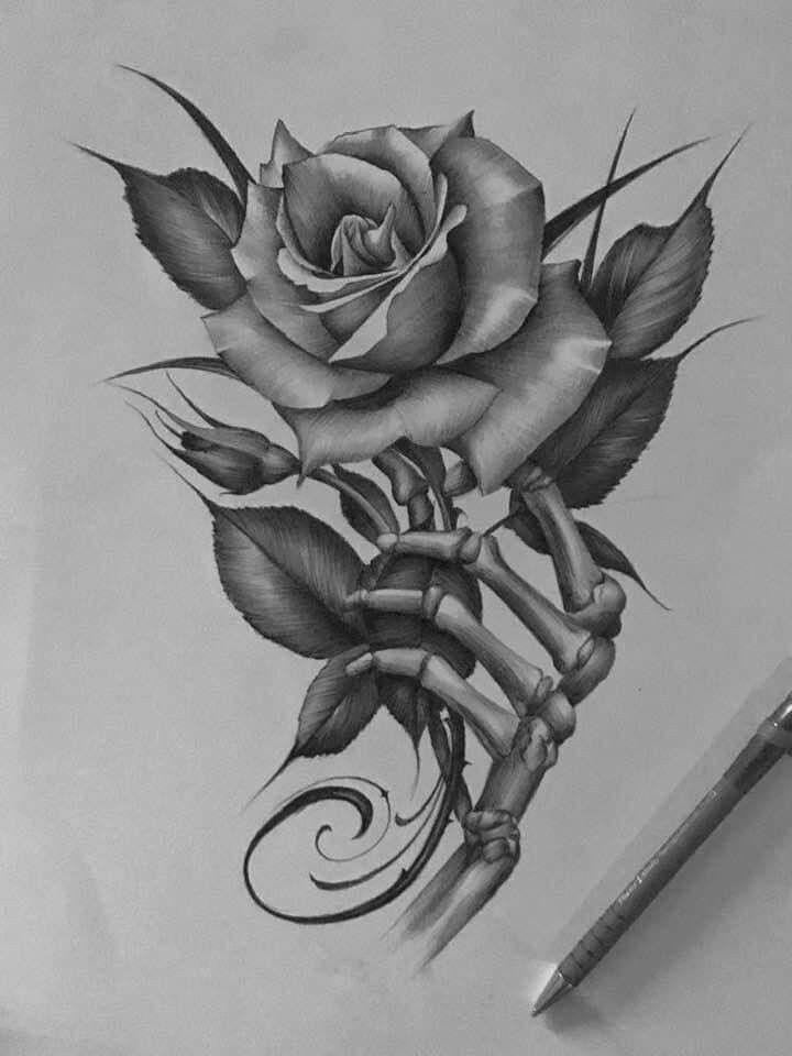 #tattooskullflowers