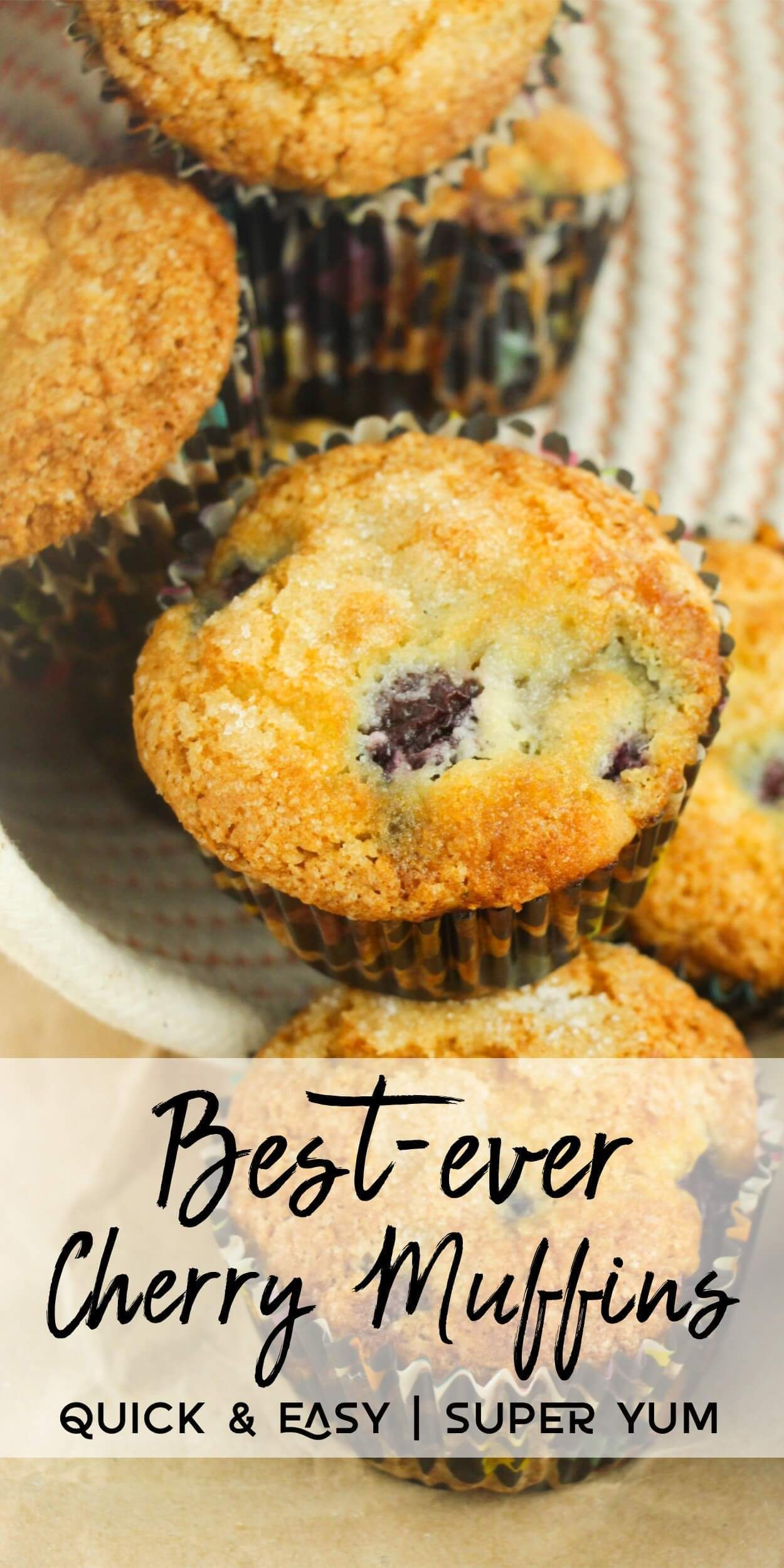 Best Ever Cherry Muffins The Only Recipe You Will Ever Need Moist Full Of Flavor And So Easy To M Cherry Muffins Cherry Recipes Baking Dried Cherry Muffins