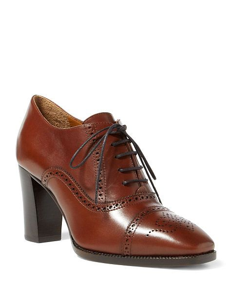 discount 2014 Ralph Lauren Collection Leather Brogue Booties clearance Cheapest cheap sale amazing price browse cheap online 56cDFZD