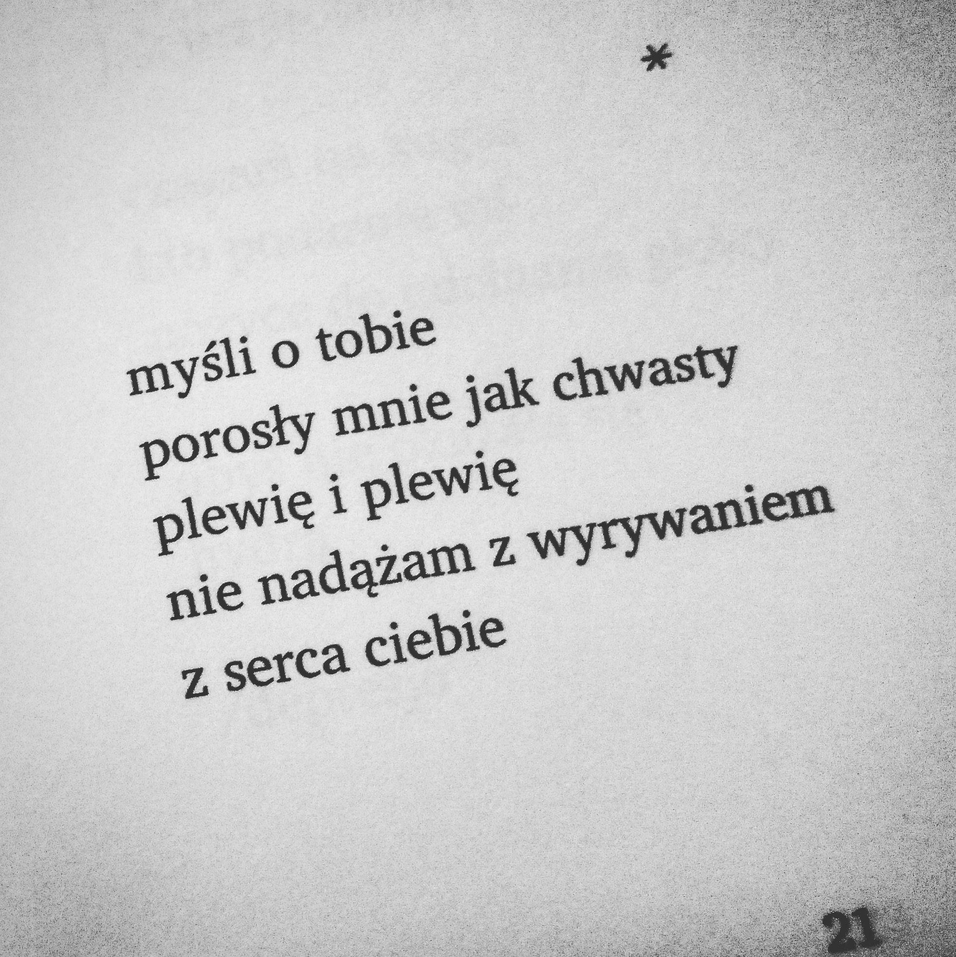 Mysli O Tobie Poetry Quotes Quotes Words