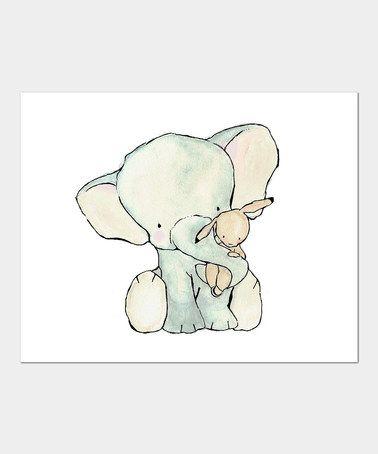 Take a look at this trafalgar 39 s square elephant hug print by trafalgar 39 s square on zulily today - Dessin elephant ...