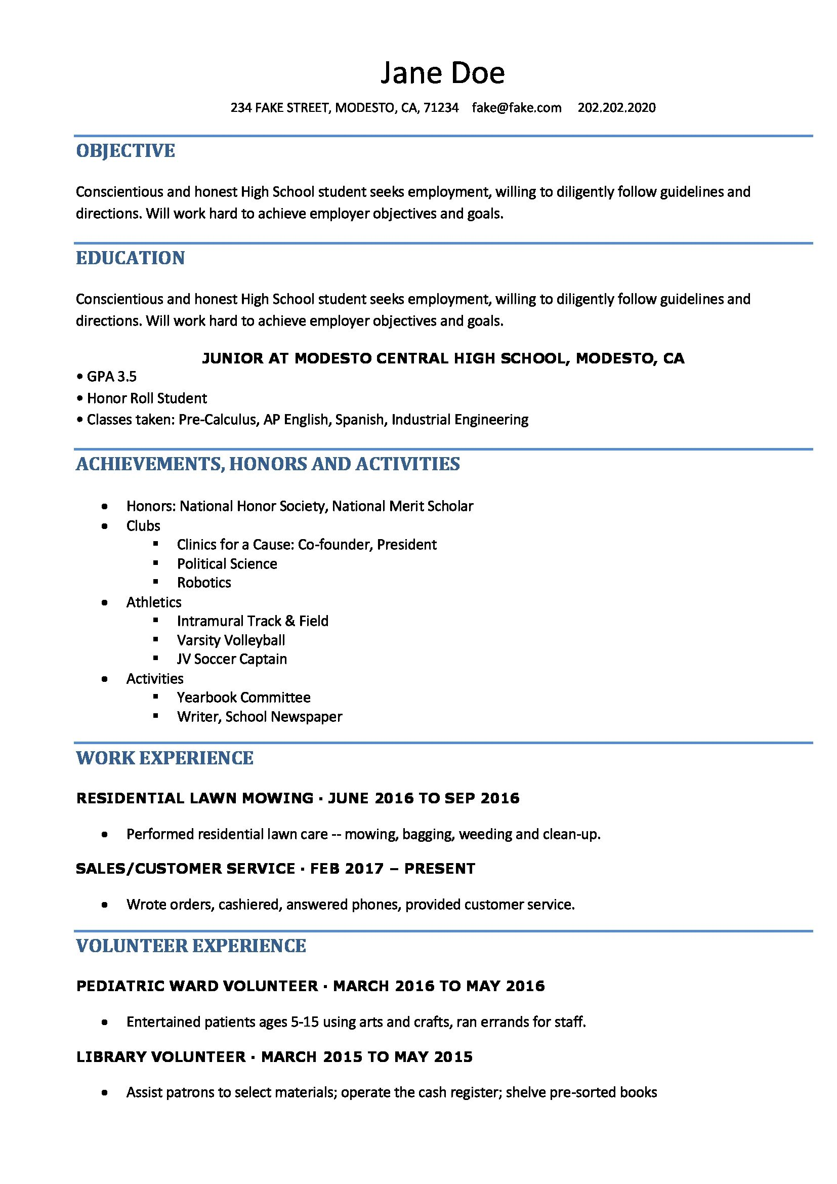 Pin by Designers on resume examples High school resume