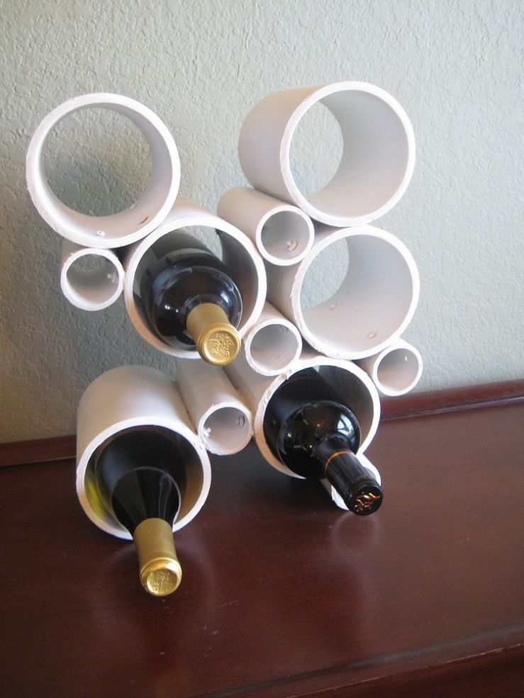 DIY Modern PVC Pipe Wine Rack :: Hometalk
