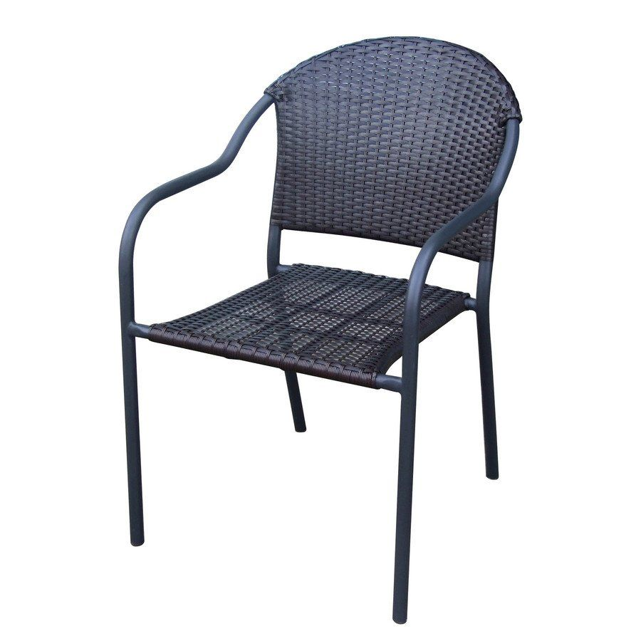 outdoor stackable chairs canada office chair recliner stuck shop garden treasures pelham bay woven barrel at lowe s find our selection of dining the lowest price guaranteed