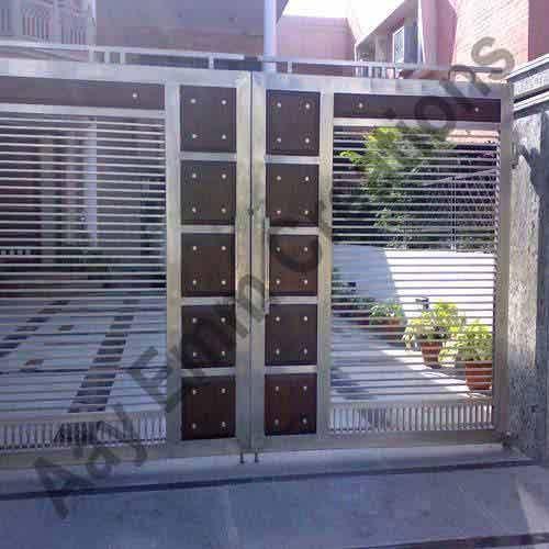 A O Inoxid Vel V Lvulas Stainless Steel Gates Fachada