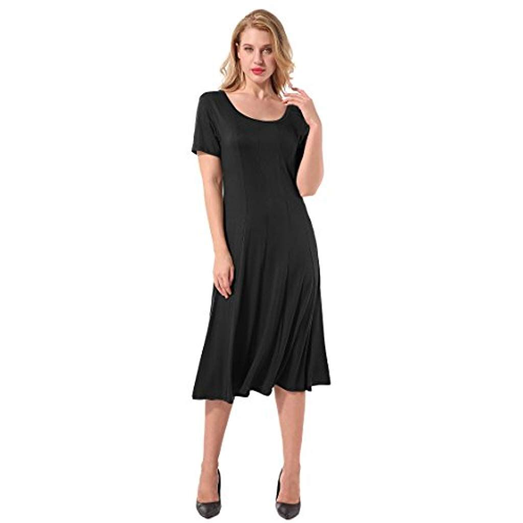 Yidarton Sommer Kleid Damen Shirt Kleider Lang Strandkleid Beach