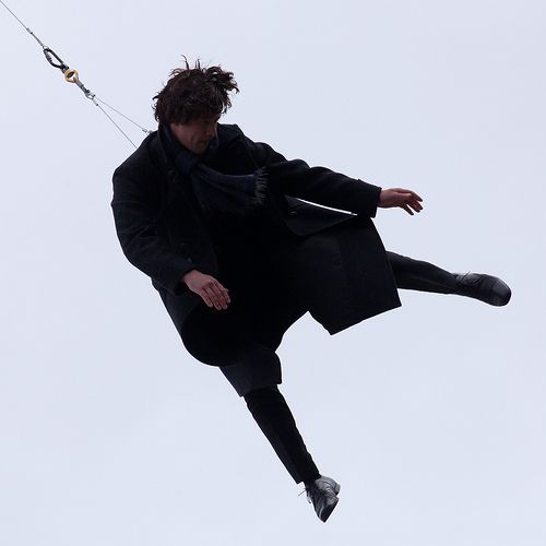 Benedict/Sherlock falling from the sky...