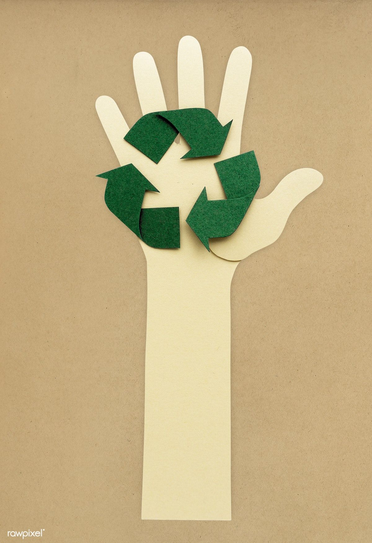 Download premium psd of Paper craft of hand icon 262539