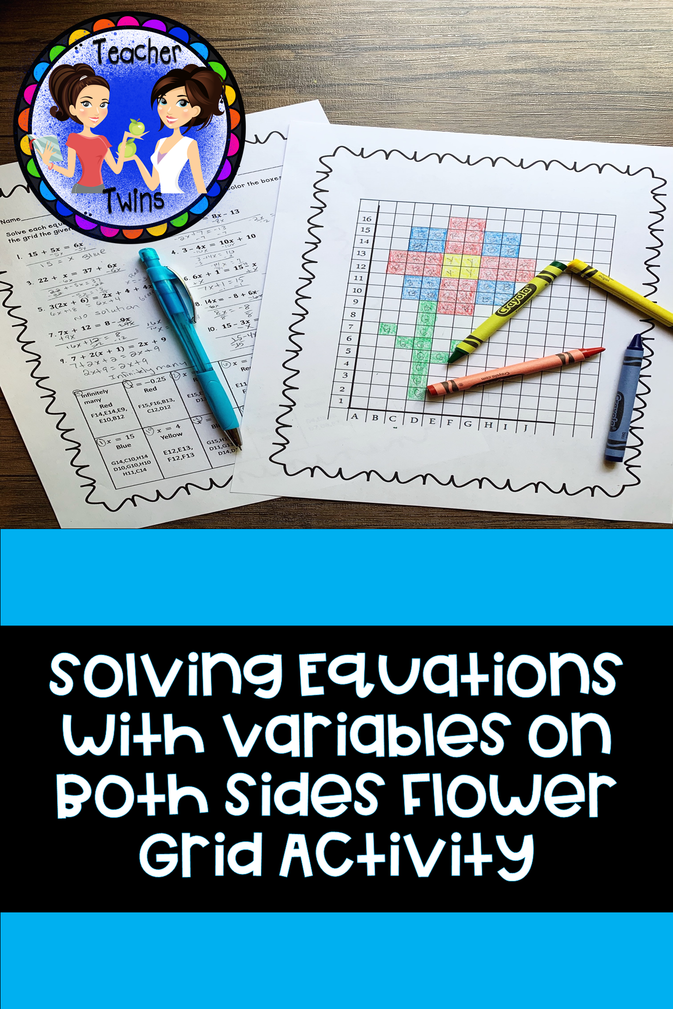 Solving Equations With Variables On Both Sides Coloring