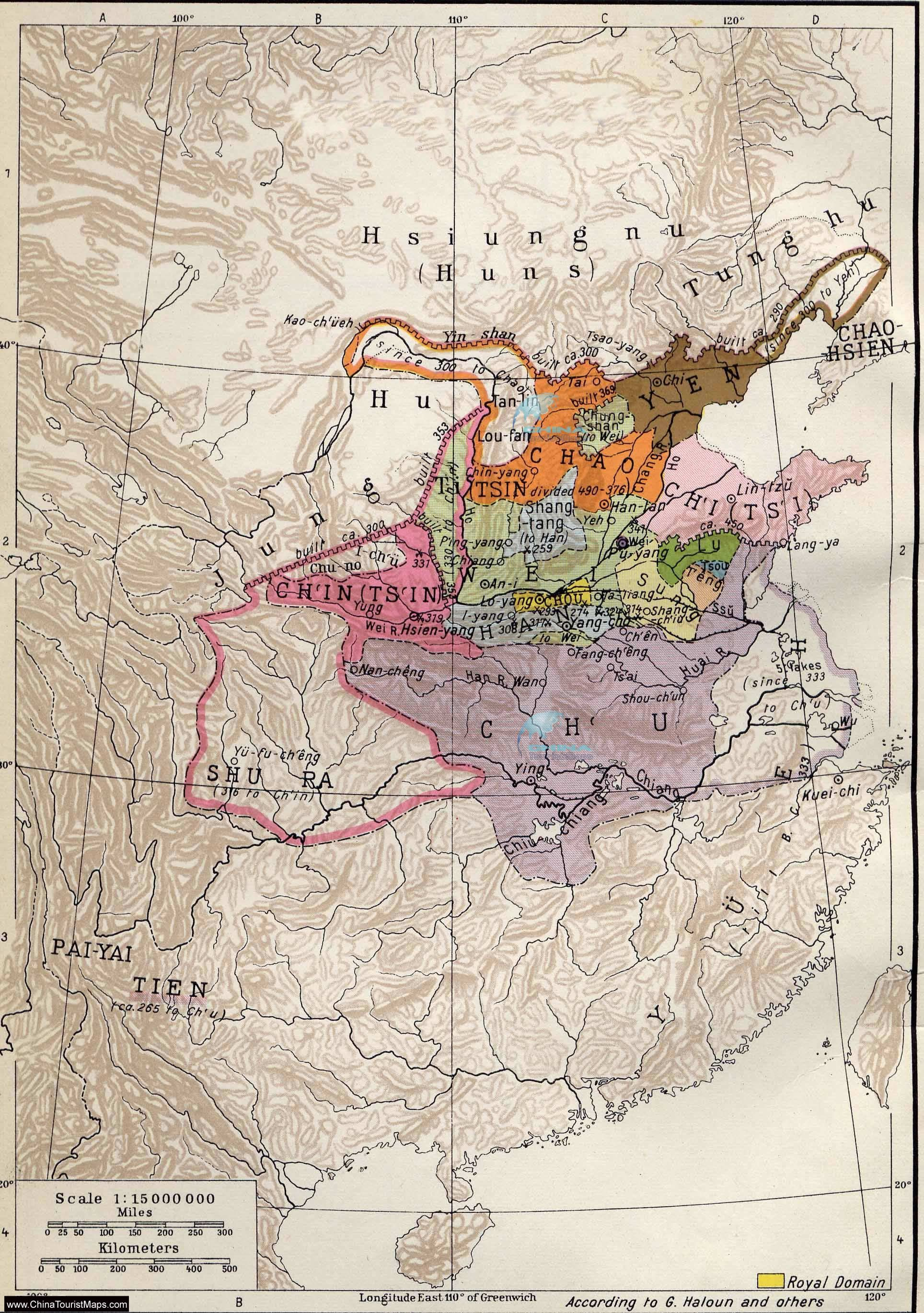 The Warring States Period (475 BC – 221 BC) | China Maps | China on