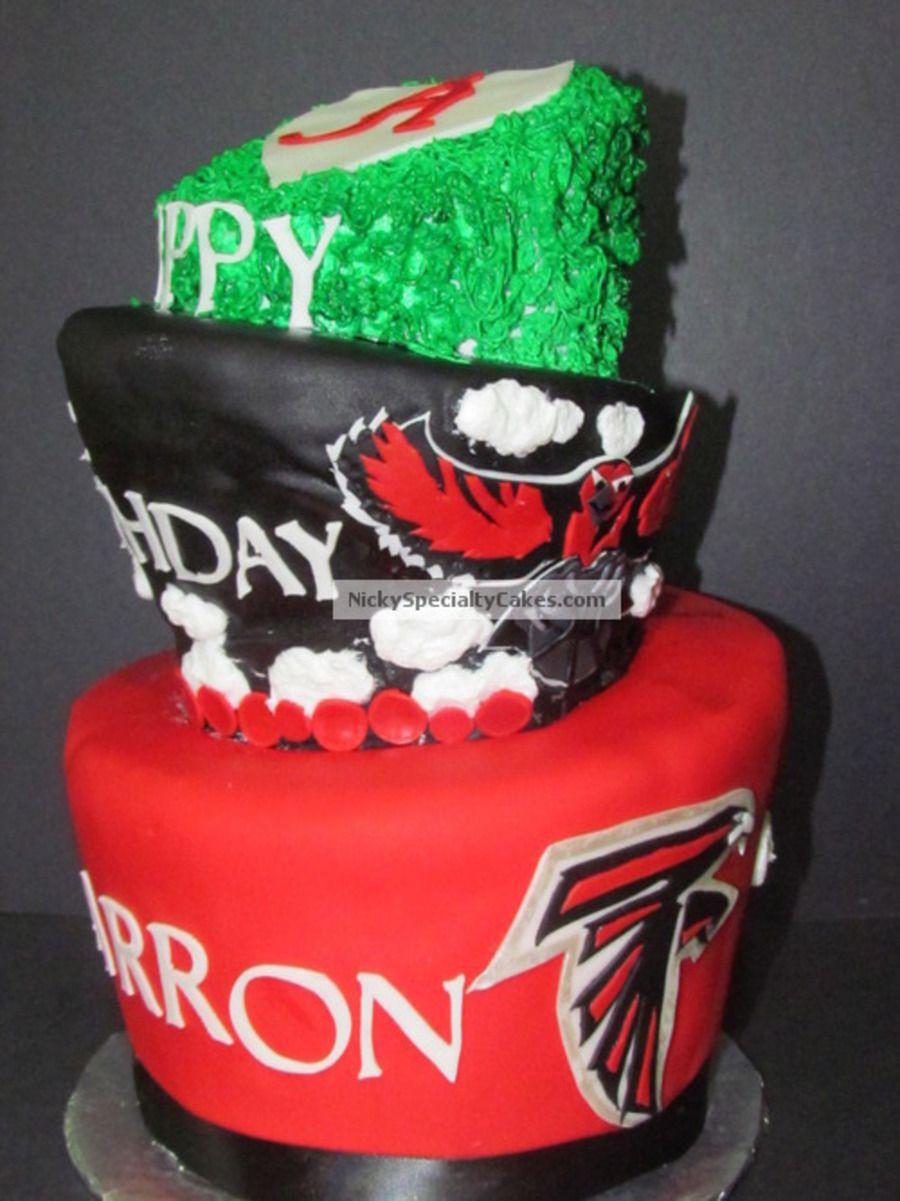 Atlanta Cake Atlanta Falcons Cake Topsy Turvy Cake Cake