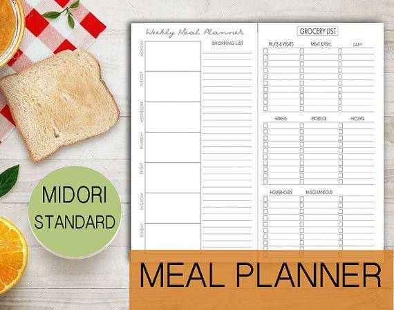meal planner menu insert menu weekly meal insert menu standard grocery