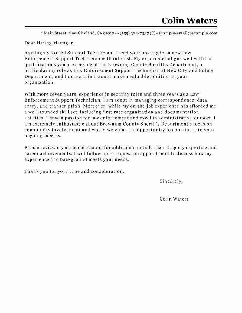 Data Center Technician Resume Elegant Leading Professional Service Center Technician Cover