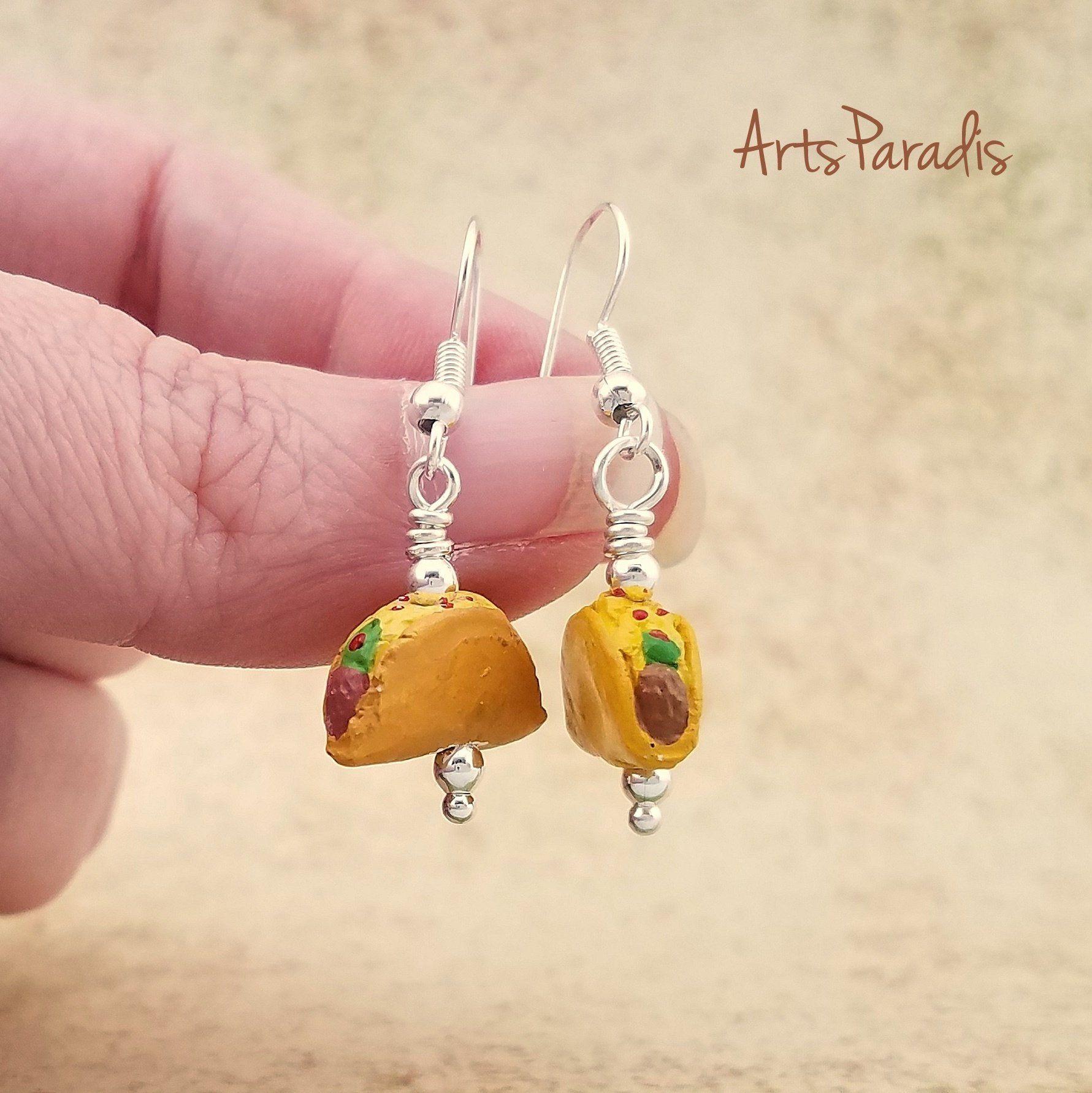 Taco hemp necklace and taco earrings