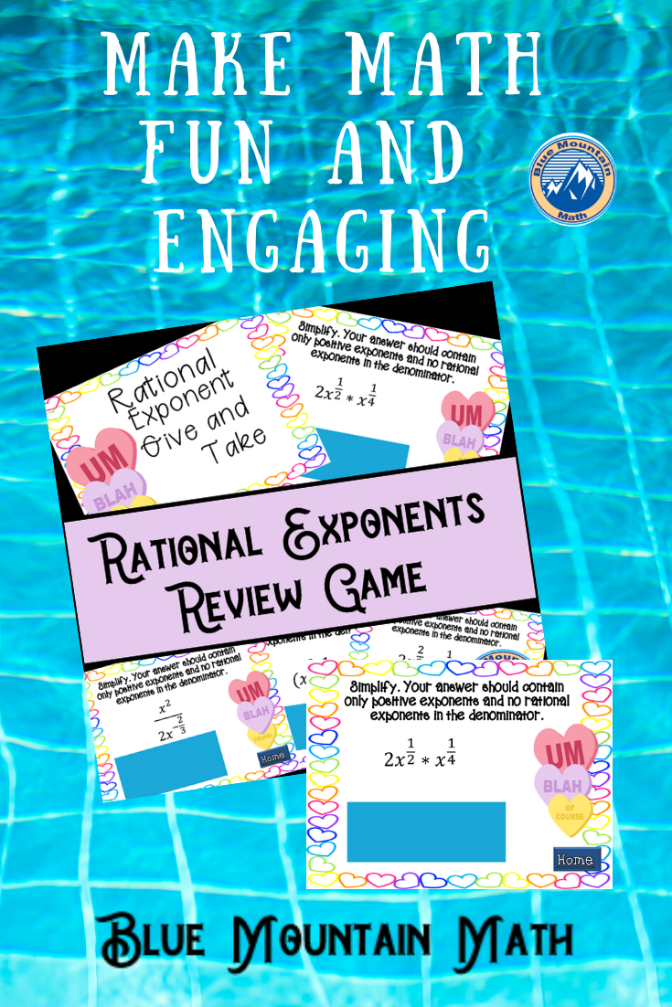 Rational Exponents Give And Take Collaborative Learning Activities Teaching Procedures Fun Math [ 1102 x 735 Pixel ]