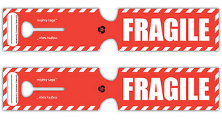 graphic relating to Printable Fragile Label referred to as delicate recyclable baggage tags #sensitive #bags #tags