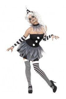 Déguisement clown sinistre halloween femme