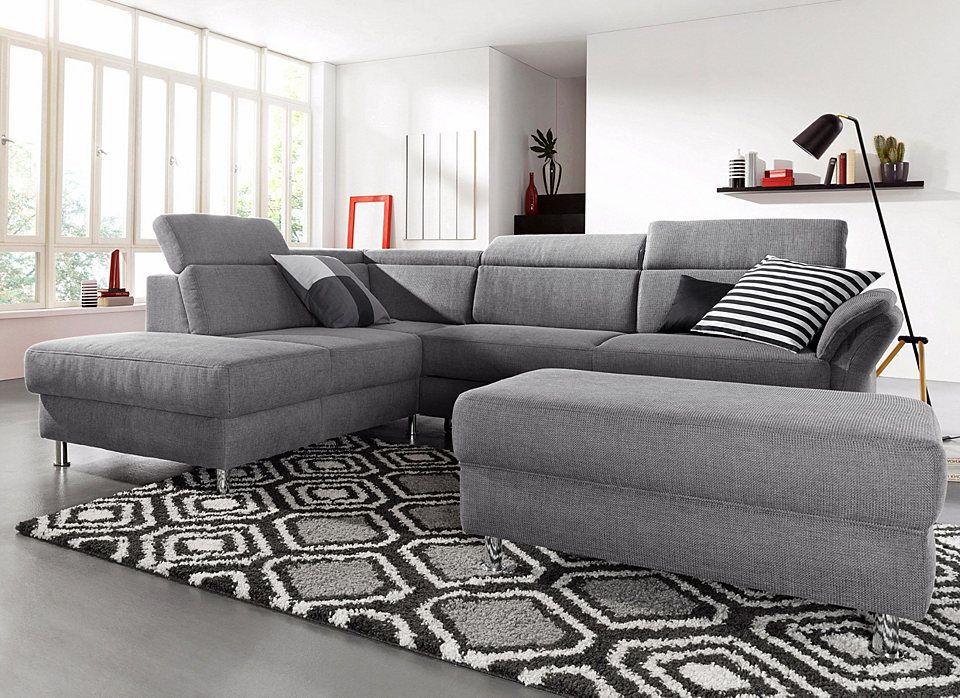 sitmore Polsterecke inklusive Kopfteilverstellung, wahlweise mit - wohnzimmer couch gemutlich