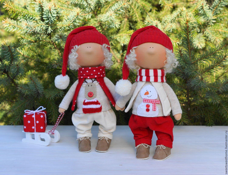 Купить Новогодние гномики - ярко-красный, гномики, гномы, гном, новый год 2016, новогодние игрушки