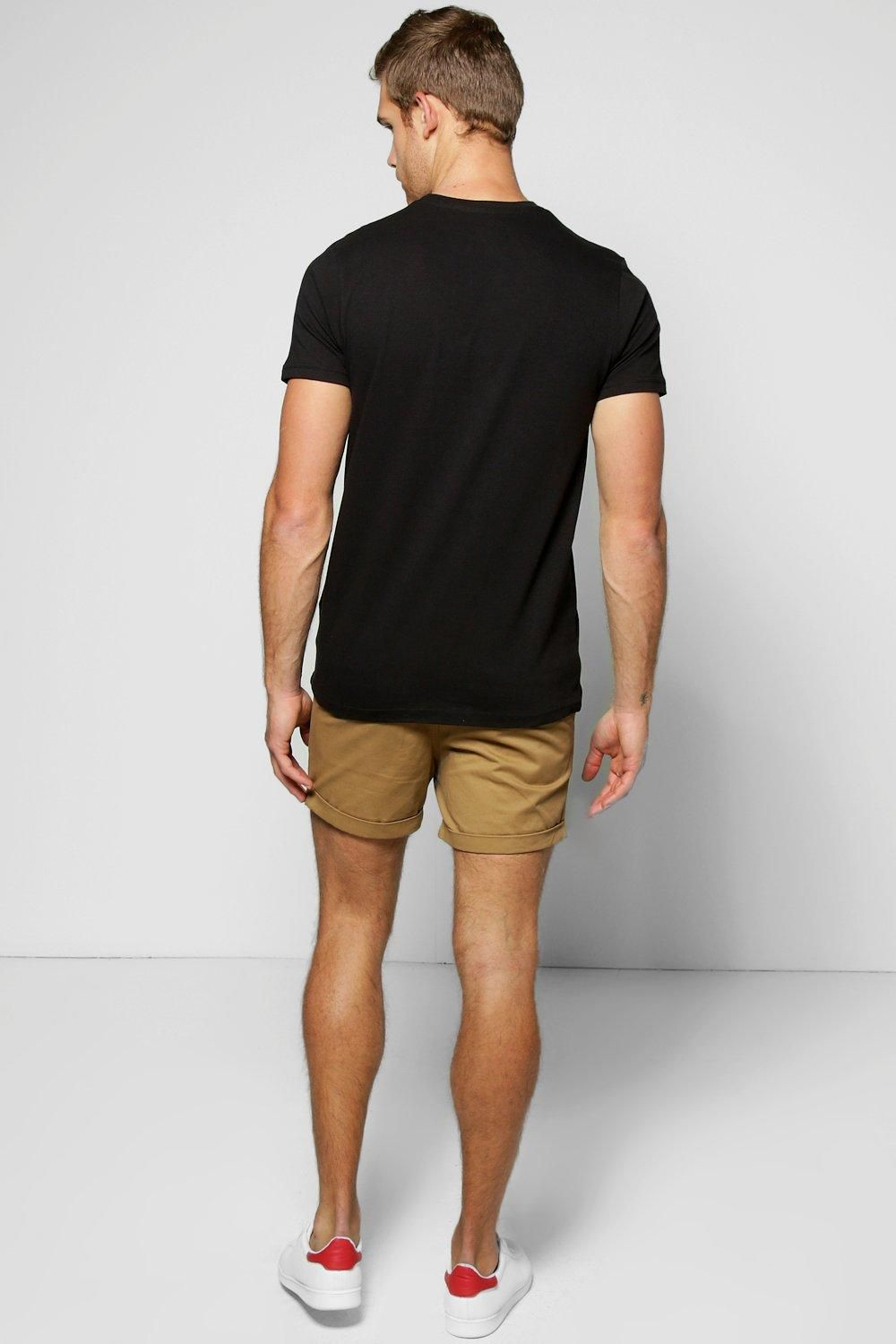 3ec1b2c0db48 Cotton Twill Chino Shorts With Turn Ups at boohoo.com | What to wear ...
