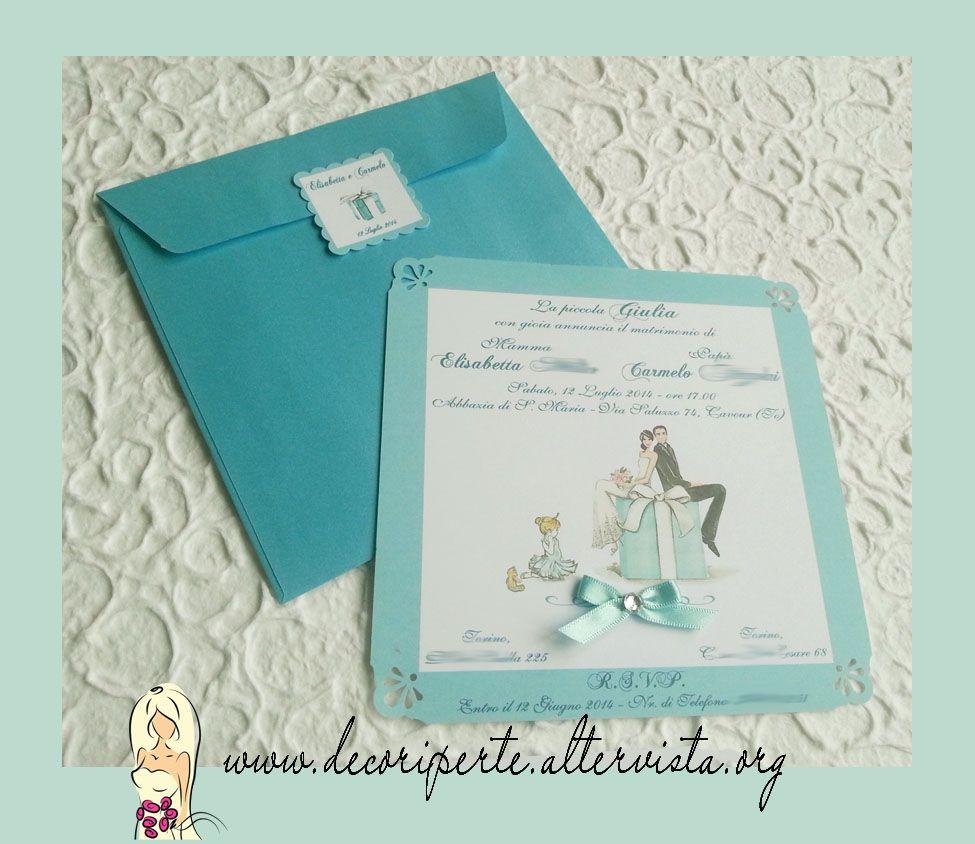 Tiffany Wedding Invitation Envelope Partecipazione Tiffany Busta Matrimonio Personalizzato Buste Matrimonio