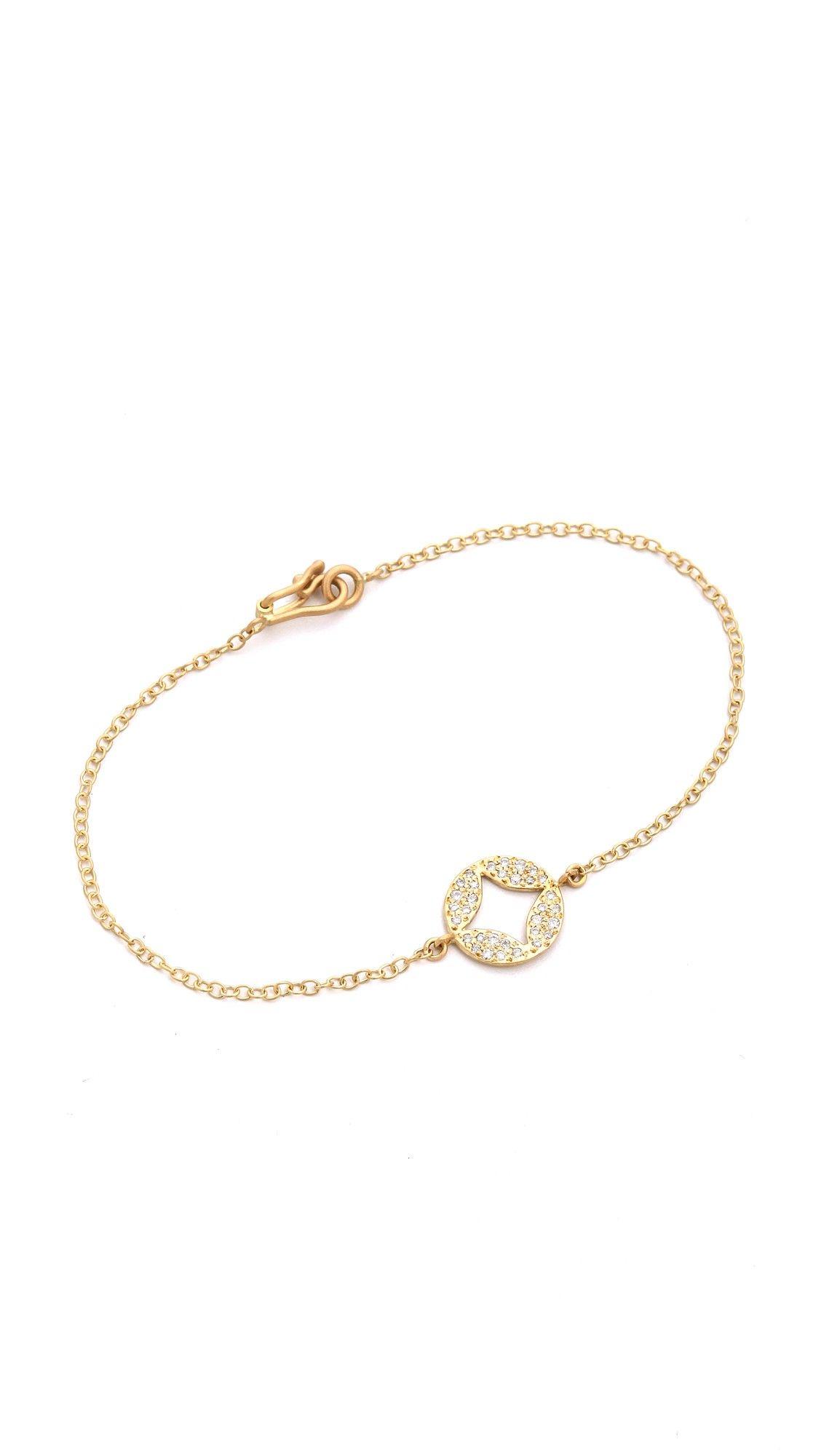 Jamie Wolf Hinged Scalloped White Diamond Bracelet in 18K Rose Gold o1CKBHlfBd