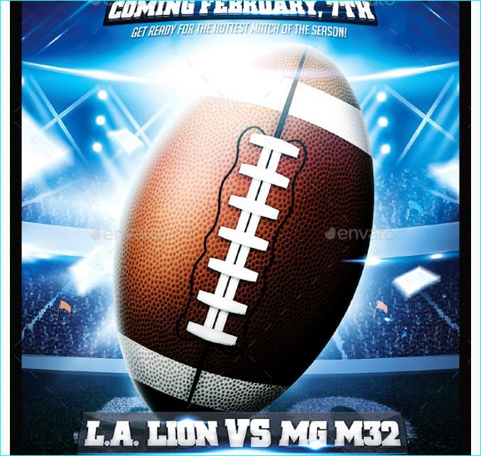 American Football Flyer Template  Party Flyer Templates For Clubs