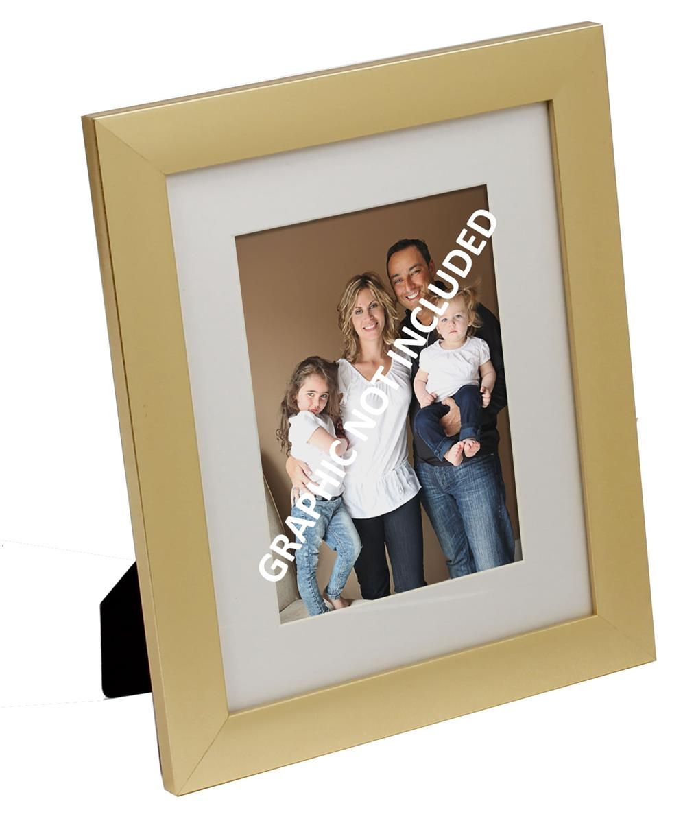 8 X 10 Plastic Picture Frame For Table Or Wall Matted To 5 X 7 Metallic Gold Frame Picture Frames Plastic Picture Frames