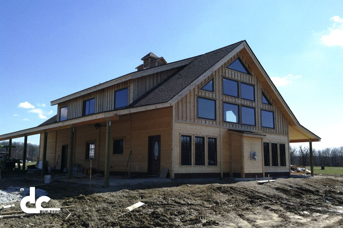Custom barn home in jerseyville illinois my dream house for Barn home designs
