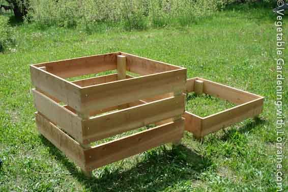 This Homemade Compost Bin Design Is Easy, Beautiful, And Easy To Work With.  It Makes Turning The Compost A Snap, And Is Even Easy To Move Elsewhere.