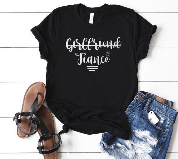 e84280f5a Girlfriend Fiance shirt, Fiancee shirts ,Engagement gift ,Bride shirt ,Future  Mrs shirt, Bacheloret