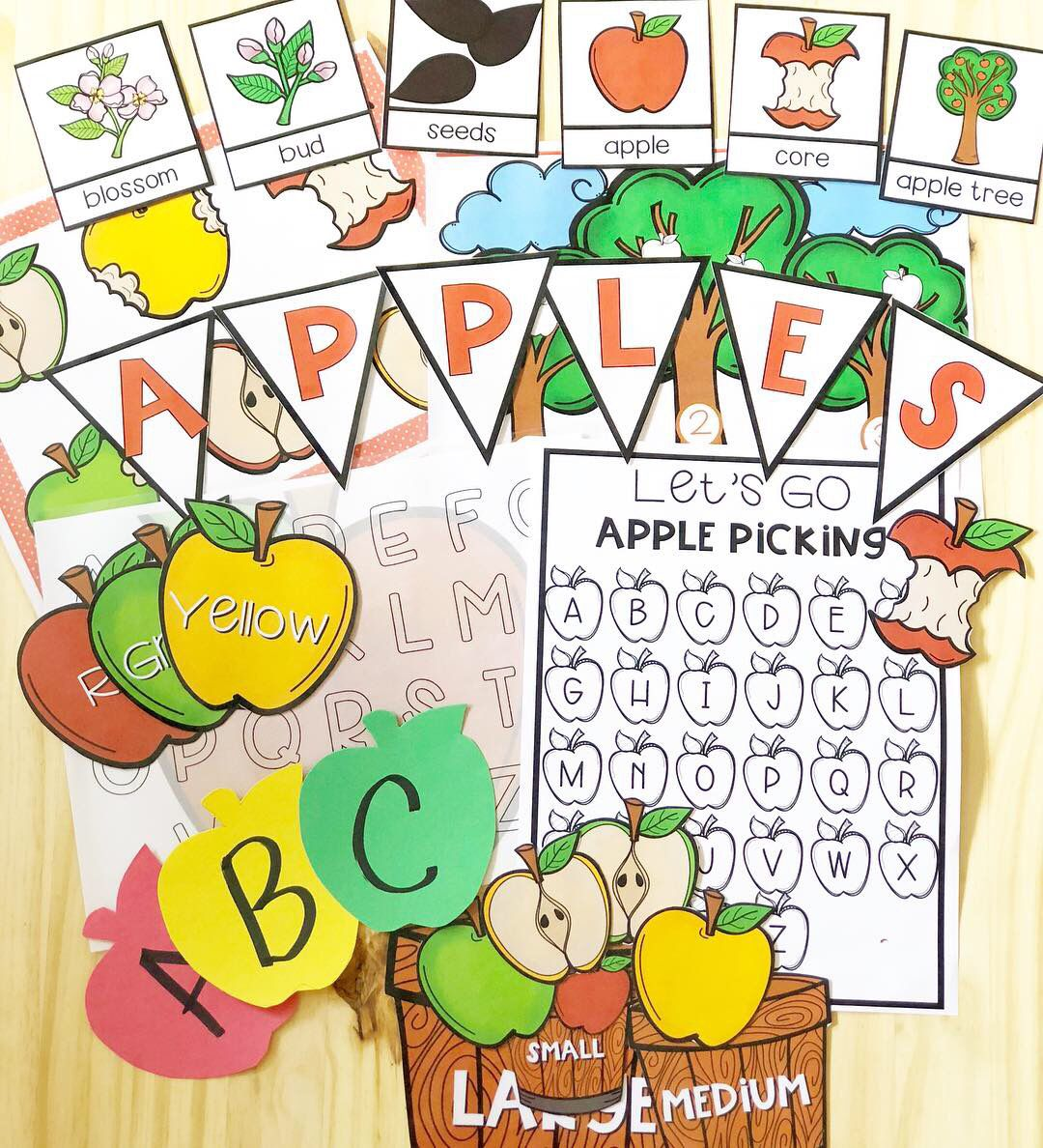 Apples Tot School  Lesson Plans And Activity Pack  With