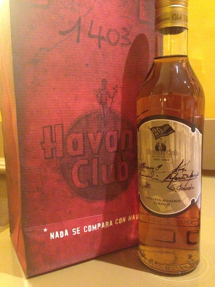Havana Club Exclusive edition to commemorate the 20th anniversary of Havana Club International. A unique reserve, never taken off the market, also unique bottles, which are signed by 6 Cuban Rum Masters Distillers.