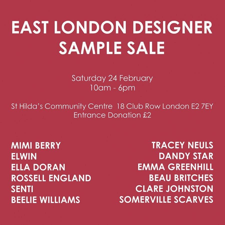 0bca30d065 East London Designer Sample Sale -- London -- 24 02